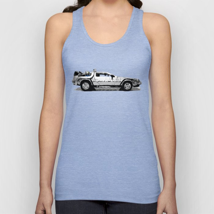 Delorean Low poly Unisex Tank Top