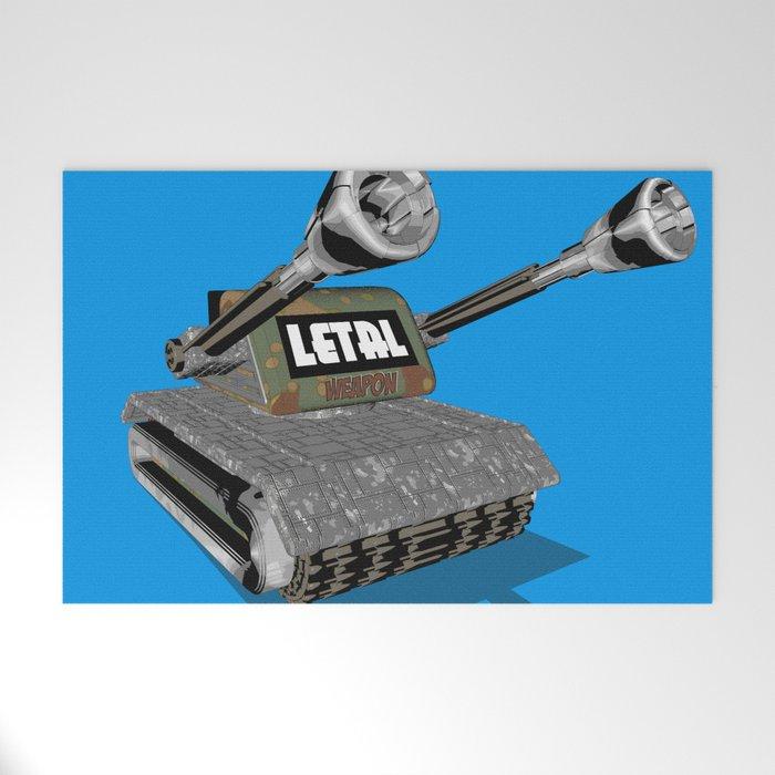 Tank 3D toon Welcome Mat