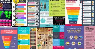 Infografías con los mejores consejos y estrategias de ventas