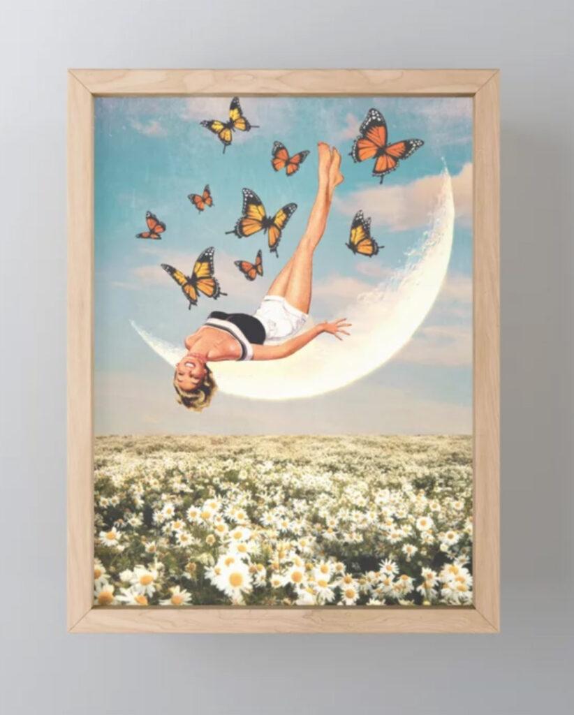 Daydreamer Framed Mini Art Print - Linz Sepe