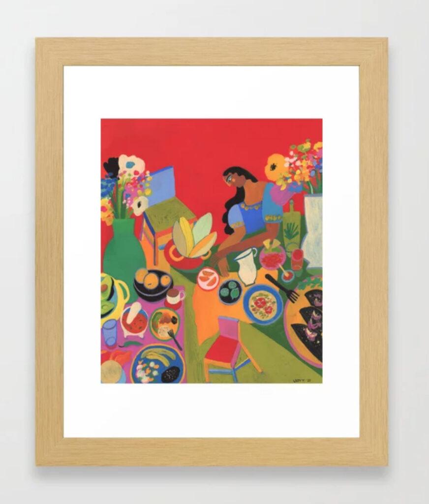 Sabor Oaxaca Framed Art Print - LEOVY