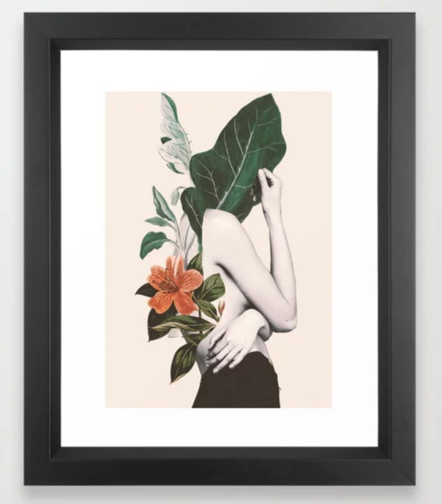 natural beauty-collage 2 Framed Art Print - dada22 - Society6 - mujer