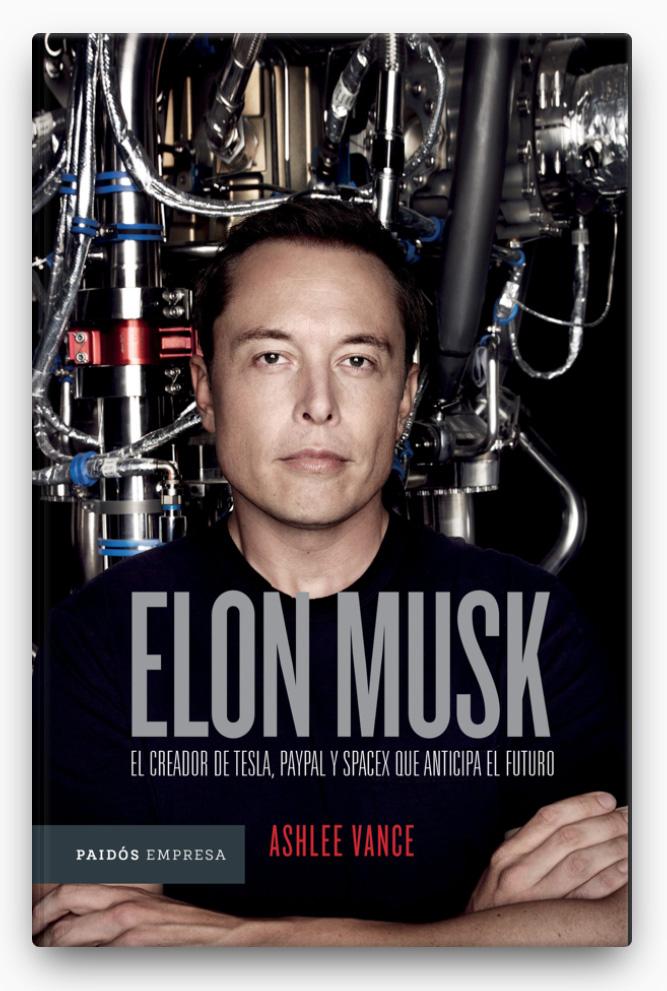 Elon Musk (Edición mexicana) LIBRO ∙ 2017 Ashlee Vance  libros que debes leer