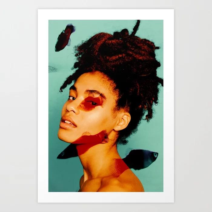 Goldfish #2 Art Print by Aaron Ricketts