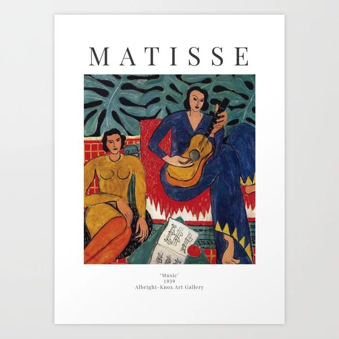 Henri Matisse - Music - Exhibition Poster Art Print by Studio Frivolo