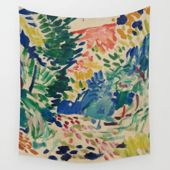 Landscape at Collioure - Henri Matisse - Exhibition Poster Wall Tapestry by Studio Frivolo