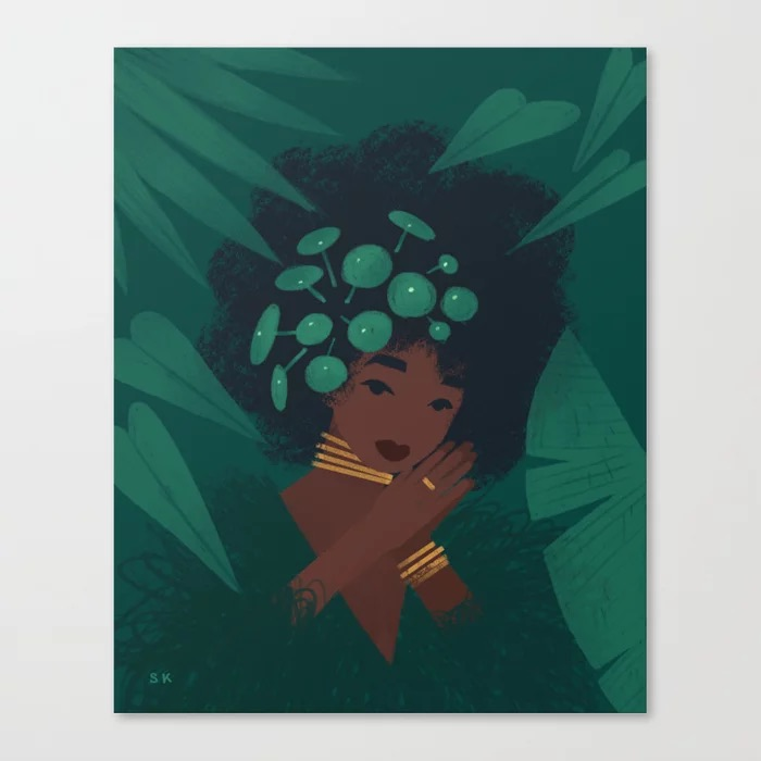Pilea Canvas Print by Sabrena Khadija