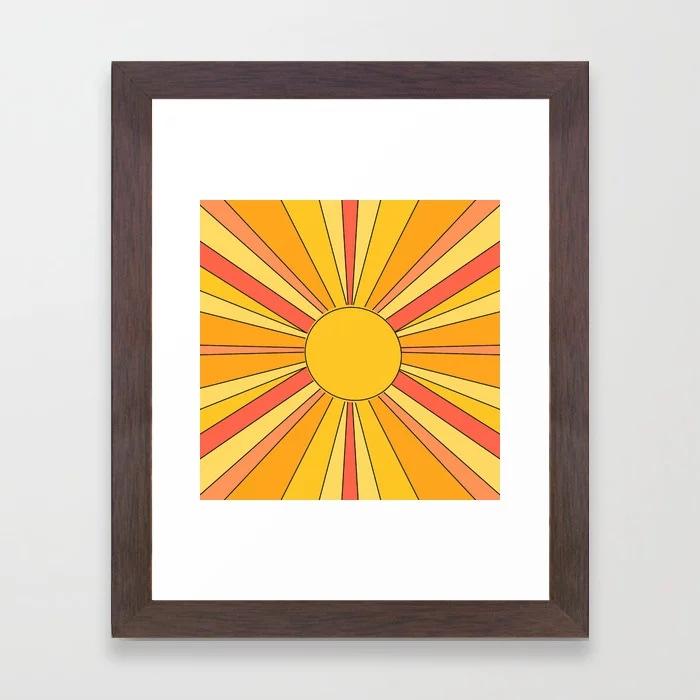 Sun rays Framed Art Print by KalypsoHarvey