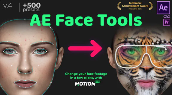AE Face Tools por videolancer - Los mejores After Effects Templates para creadores