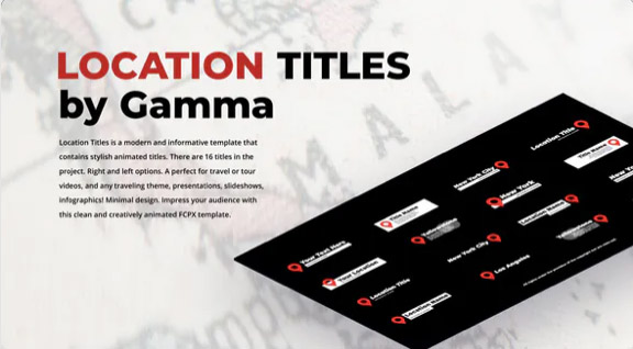 Location Titles | After Effects por Gamma_Shop