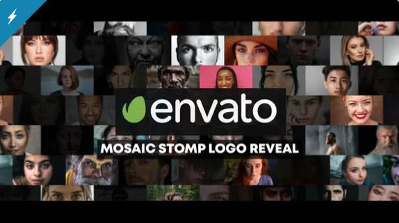 Mosaic Stomp Photo Logo Reveal por Nmotion