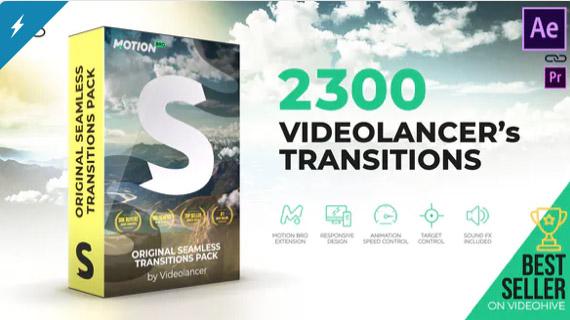 Videolancer's Transitions | Original Seamless Transitions Pack por videolancer