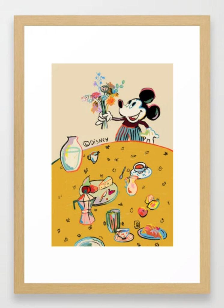 """Breakfast with Mickey Mouse"" by Sandra Poliakov Framed Art Print"