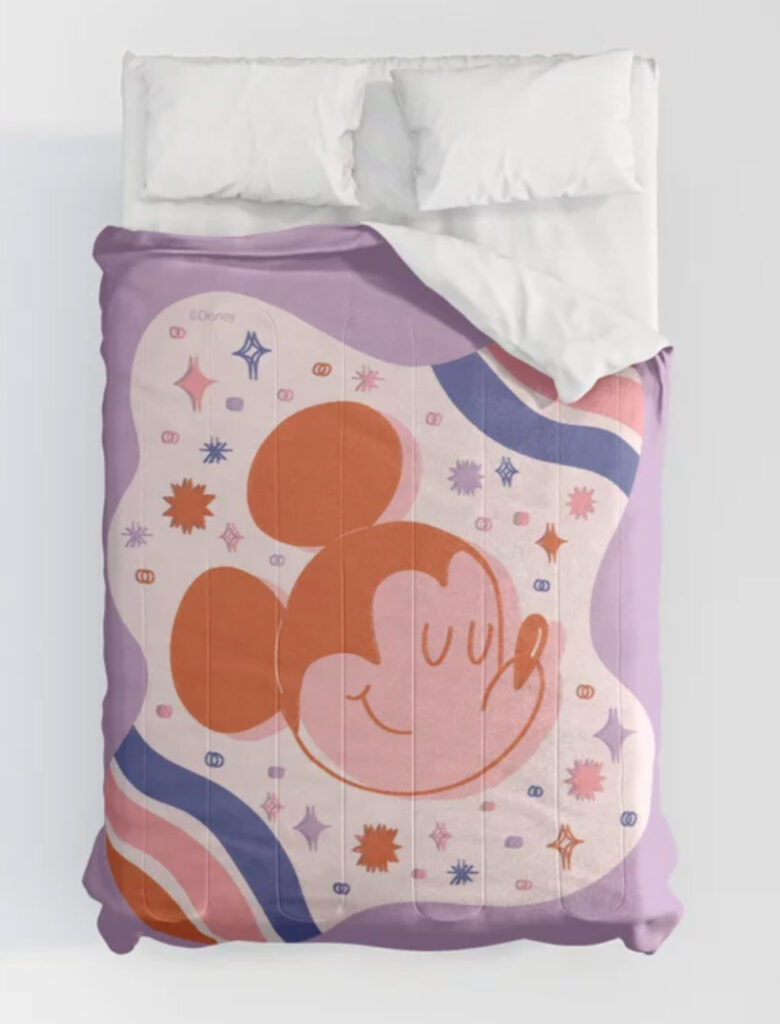 """""""Mickey Mouse Galaxy"""" by Jenny Chang-Rodriguez Comforters"""