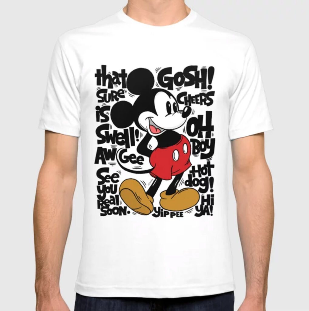 """""""Oh Boy - Mickey Mouse"""" by Matthew Taylor Wilson T-shirt"""