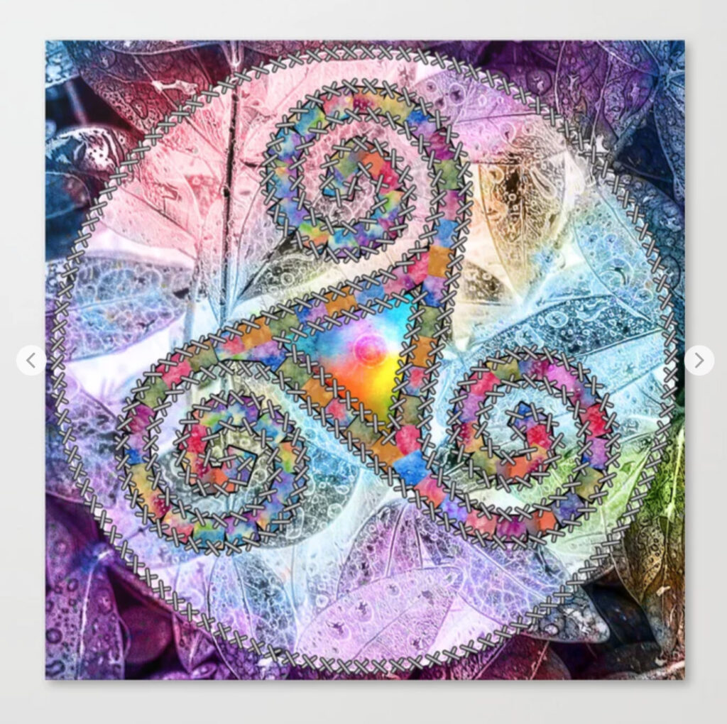 Trisquel with Leaf Background Canvas Print - Trisquel Celta