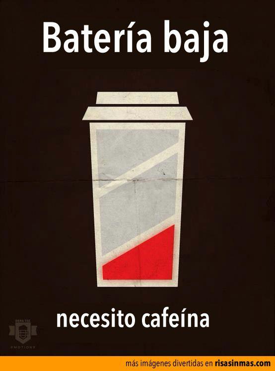 Batería baja, necesito cafeína