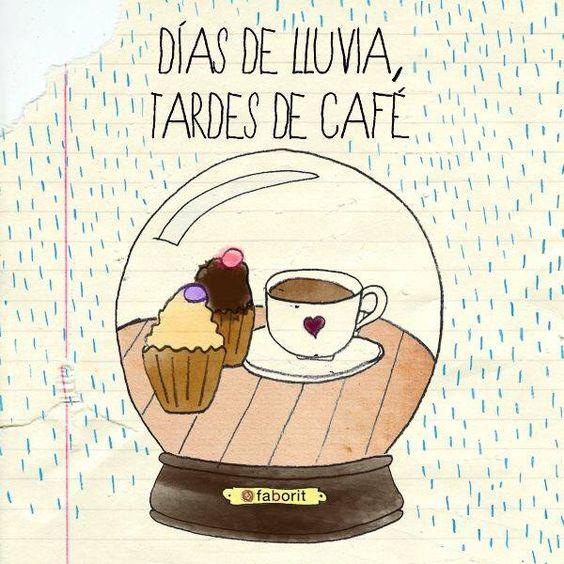 Días de lluvia, tardes de café - Memes de café
