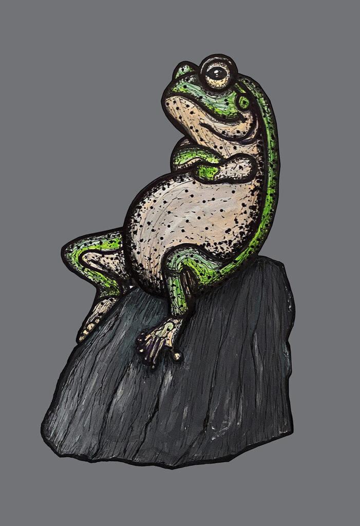 Lightened frog