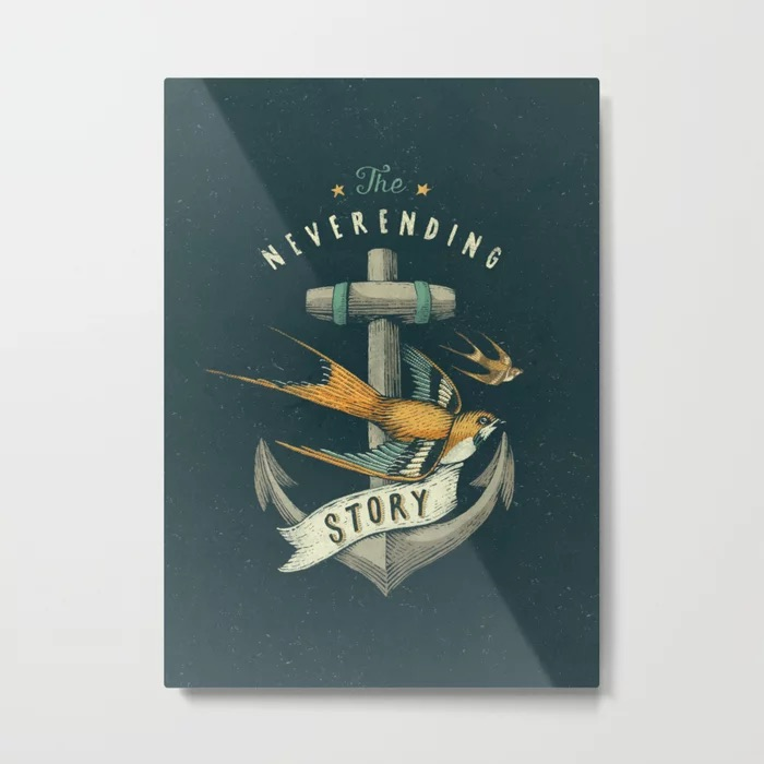 Anchor | Petrol Grey Metal Print