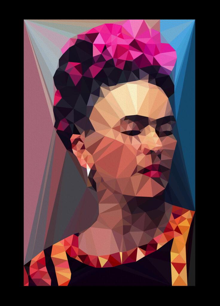 Frida lowpoly NFT - OpenSea - cryptoart