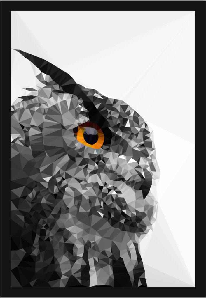 Lowpoly owl - Opensea NFT