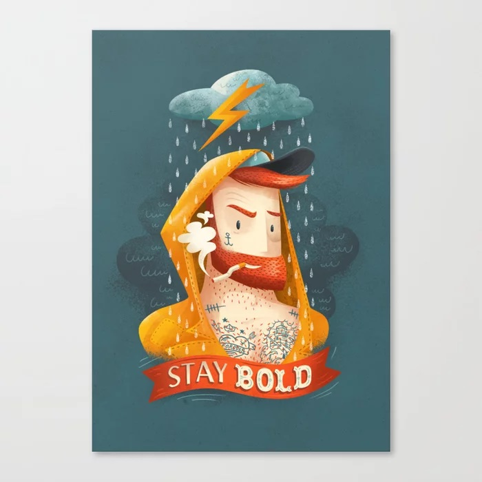 STAY BOLD Canvas Print