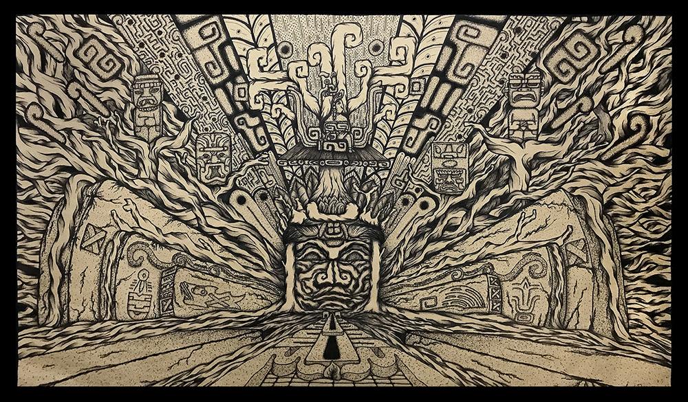 Olmec allegory NFT | OpenSea | Prehispanic-Art