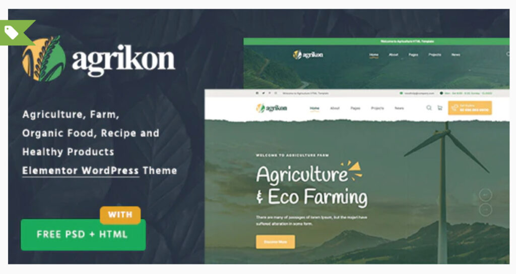 Agrikon - Organic Food & Agriculture WooCommerce Theme By Ninetheme