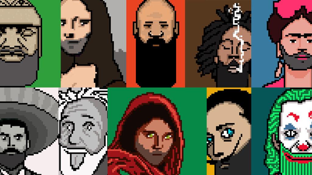 Mi colección de NFTs de Bearded PIXEL ART en OpenSea