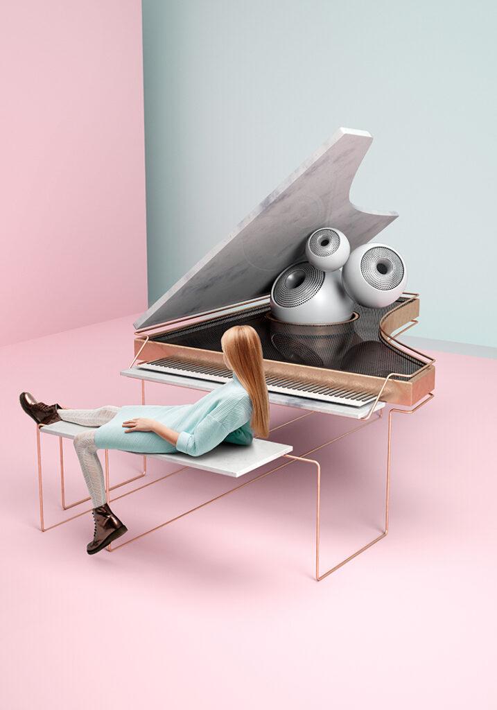 El proyecto de música Bloom Maestro de arte conceptual 3D