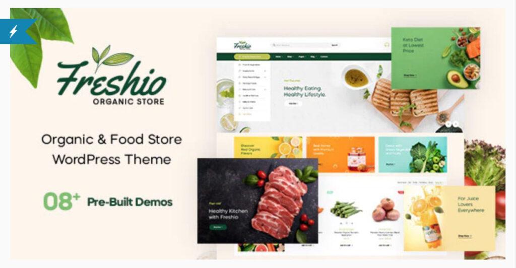 Freshio - Organic & Food Store WordPress Theme By pavothemes  - WordPress ECommerce Themes
