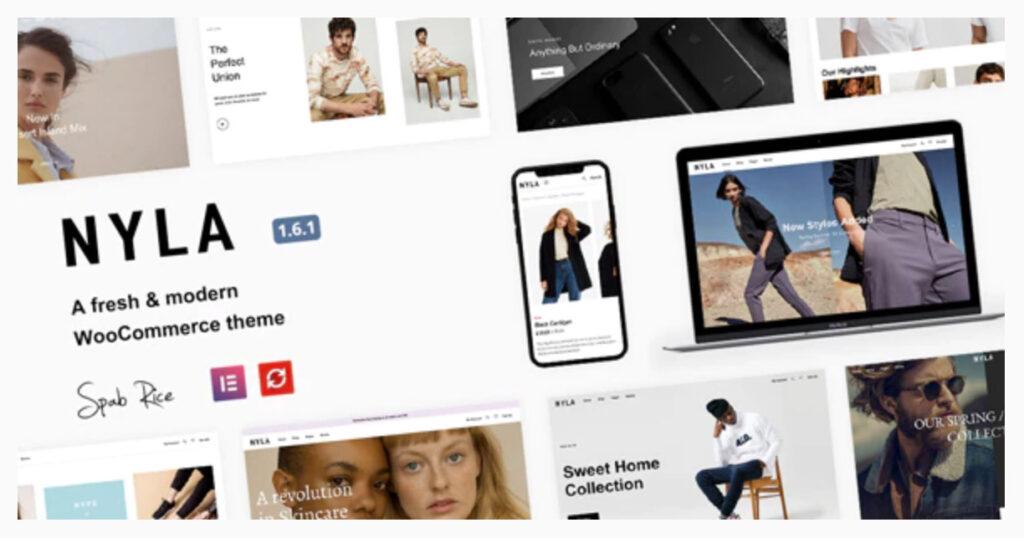 Nyla - A Fresh & Modern WooCommerce Theme By SpabRice WordPress ECommerce Themes