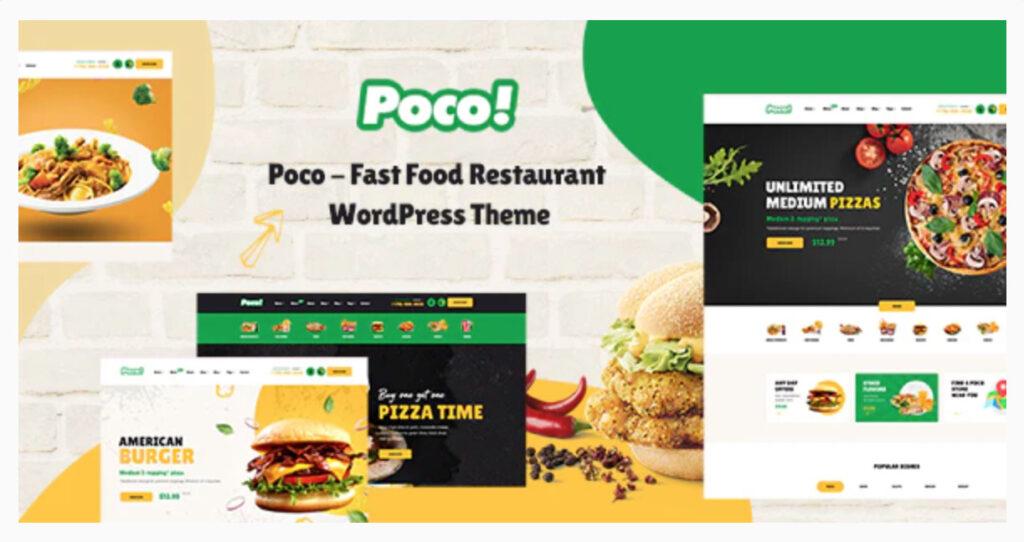 Poco - Fast Food Restaurant WordPress Theme By pavothemes