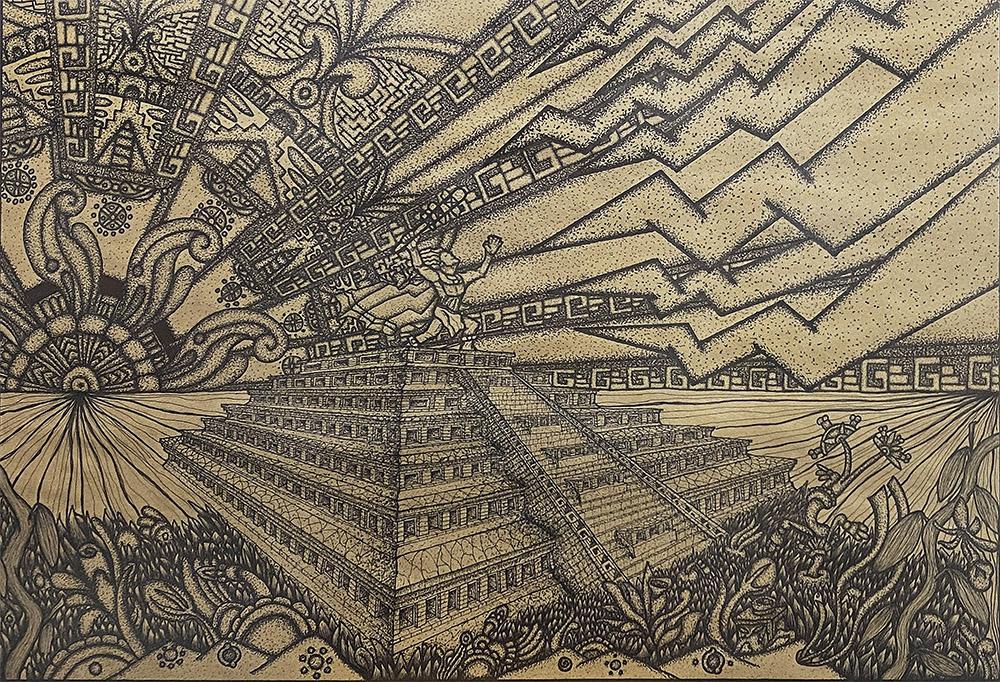 The Legend of Tajin and the Seven Thunders - NFT - OpenSea - Ethereum - Prehispanic-Art