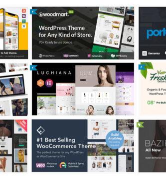 Lo mejor para tiendas online en WordPress ECommerce Themes