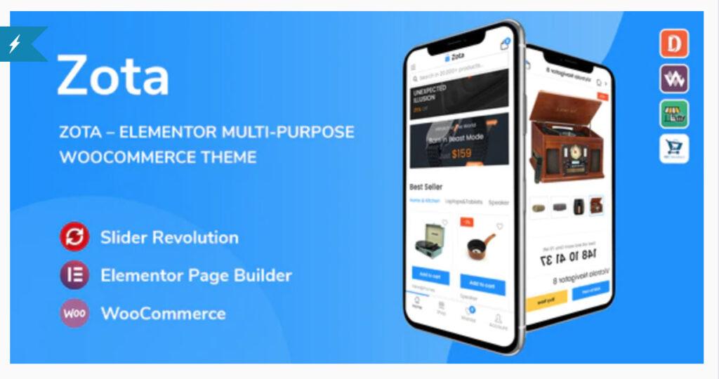 Zota - Elementor Multi-Purpose WooCommerce Theme By thembay