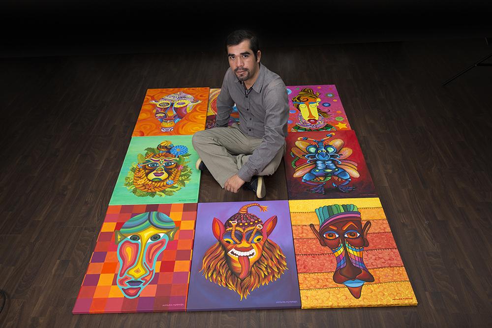 """Artista mexicano - Obra de la colección """"Alucinante transfiguración visual"""" de Antonio Mendoza, 2015."""